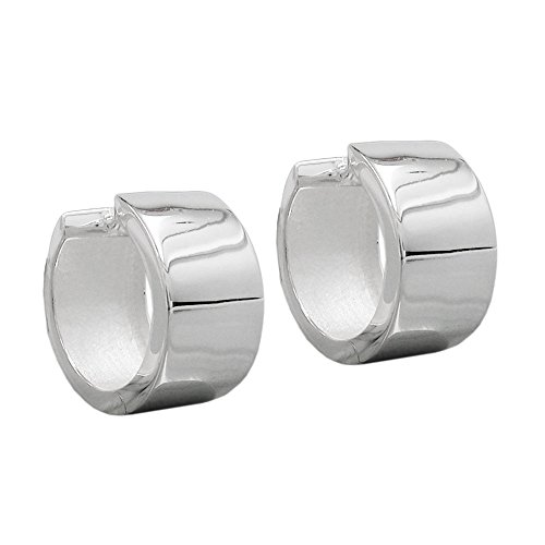 Unbespielt Schmuck Ohrschmuck Silber Ohrringe Silber 925 Creolen für Damen 18 x 10 mm glänzend mit Steckverschluss inklusive Schmuckbox