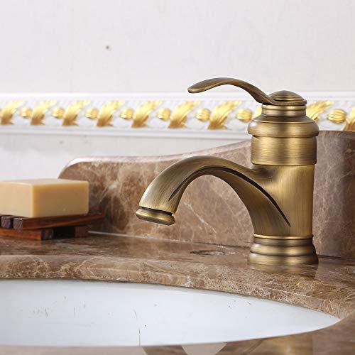 LCSD Wasserhahn Warmes und kaltes Badezimmer Waschbecken Mischwasser goldene Wasserhahn Neue Waschbecken antiken Wasserhahn