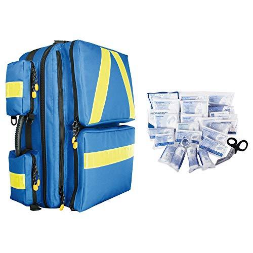 Notfallrucksack MEDICUS XL blau Nylon gefüllt mit 13157