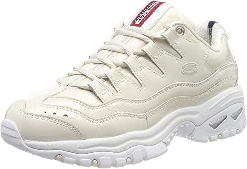 Skechers Damen Energy - Thriller Knight Sneaker,  (Black Patent Leather/Metallic/White Trim Nat), 36.5 EU