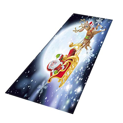 Fineday Merry Christmas Welcome Doormats Indoor Home Carpets Decor, Home Decor, for Christmas Day (H)