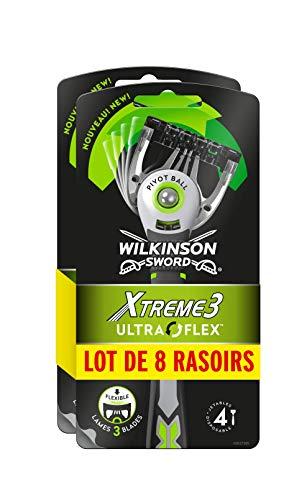 Wilkinson–Xtreme 3Ultra Flex–Afeitadora corporal desechables masculinos–Lote de 2paquetes de 4