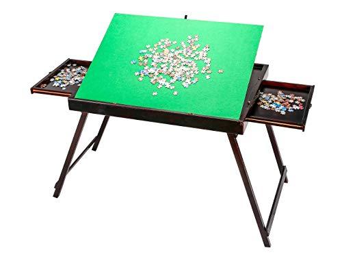 DYC Puzzletisch, stehend, faltbar, kippbar, geeignet für bis zu 1500 Stück Puzzles (Mit Schublade)