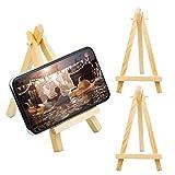 KUPINK 20 PCS Mini Caballete de Madera de Trípode Pequeña Madera Caballete para Asiento Caballete Pequeño Decoración de Mesa
