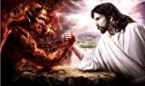 xiangpiaopiao Gott Jesus Gegen Satan Devil Art Bild Auf