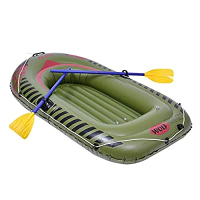 Stylishbuy 2 Person Inflatable Boat Set Heavy Duty Rafting Fishing Air Kayak Canoe Set with Paddles for Adults Fishing