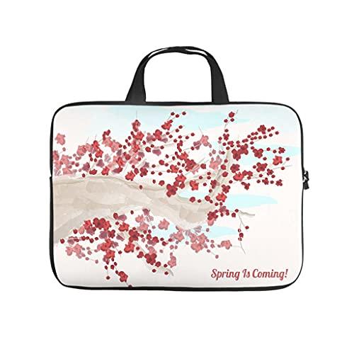 Funda protectora para ordenador portátil, diseño de flores de cerezo japonés, resistente al polvo, para trabajo, negocios, regalo personalizado, Blanco, 10 pulgadas,
