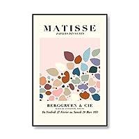 抽象イェアンリ・マティス展覧会のポスターやプリントプリント壁画の写真現代のフレームレスキャンバス絵画 3番 50x70cm