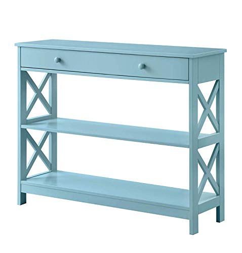 Convenience Concepts Oxford 1 Drawer Console Table, Sea Foam