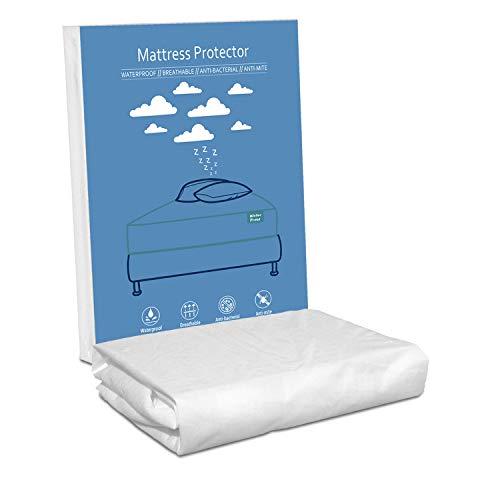 Protector de colchón 135x200x35 cm,Impermeable, Resistente y Transpirable. Fácil de Lavar. Ajustable