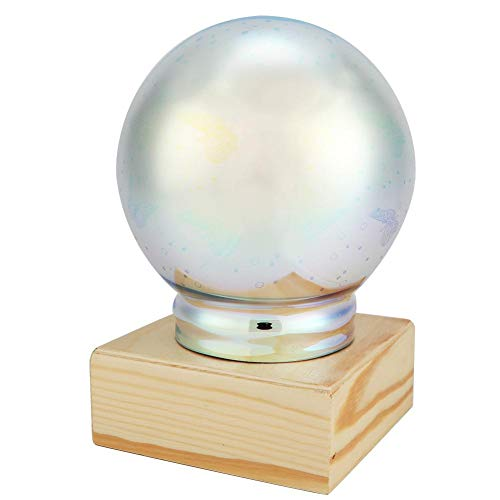 LED-glas nachtlampje Lamp, 3D-kristalglas vergulde lampafdekking USB-stekker Sterrenhemel veranderende decoratieve USB-oplaadbare LED-tafellamp voor thuisbureau-decoratie(vlinder)