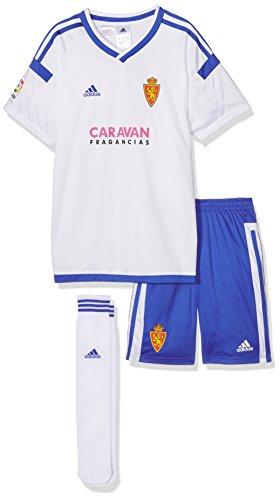 adidas Rz H Minikit Conjunto Oficial 1ª Equipación Real Zaragoza FC, Niños, Blanco (Blanco), 152