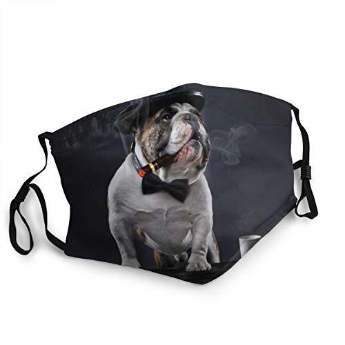 Mundschutz für Erwachsene, Motiv: Englische Bulldogge, verstellbar, für Damen und Herren