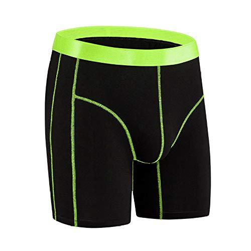 Boxershorts Mix Unterwäsche MehrpackHerrenunterwäsche Bambusfaser schwarz atmungsaktive Boxerhose / 3 Stück-Leuchtendes Grün_XXL