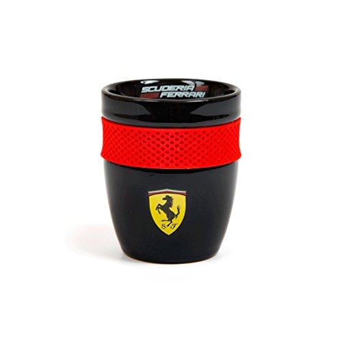 FERRARI Scuderia Formel 1 Authentische 2018 Scuderia Tasse mit Gummigriff, Schwarz