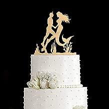 Orangeee Mermaid cake topper Diving cake topper mermaid wedding cake topper diving wedding cake topper scuba diving cake topper diver cake topper 773047