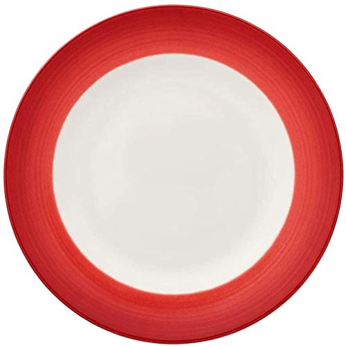 Colorful Life Plato hondo de desayuno21 5 cmPorcelana PremiumBlanco/Rojo