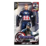 Toyico Avengers Captain America Action Figure Toys 6 inches Infinity war, Age 3 Years & Up (Battery Operated)