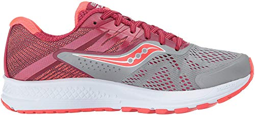 Saucony Women's Ride 10 Running Shoe, Grey Berry, 7 Medium US