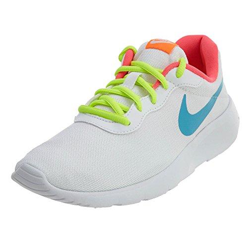 Nike Tanjun GS Scarpe Sportive Ragazza Donna Bianco Giallo Rosa Fluo (36)