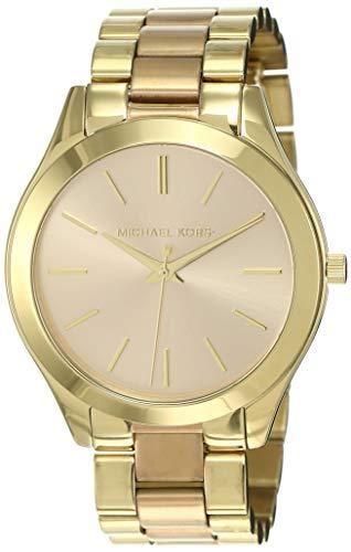 Michael Kors Damen Analog Quarz Uhr mit Edelstahl Armband MK3493