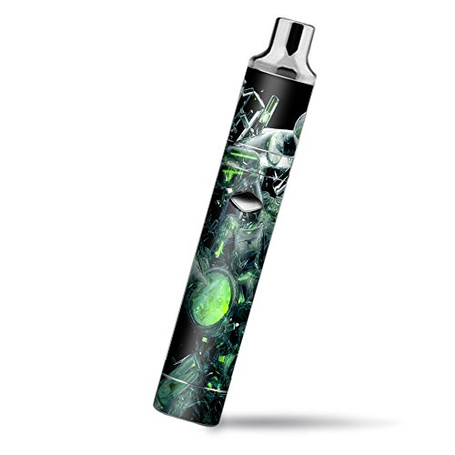 Skin Decal Vinyl Wrap for Yocan Magneto Pen Vape Mod stickers skins cover/ trippy glass 3d green
