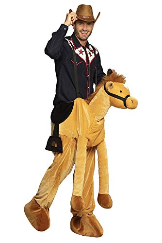 narrenkiste B88088 Damen-Herren Pferd Kostüm Plüsch-Reittier Reitpferd Horse