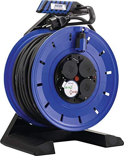 H07RN-F - Carrete alargador de cable (40 m, 3 x 2,5 mm², 4 conectores de protección, plástico IP44 HEDI)
