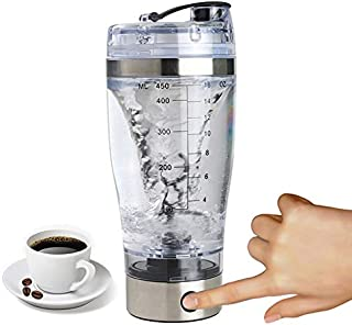 Workout Water Bottle - Mini Usb 450ml Electric Automatic Protein Shaker Portable Movement Mixing Mixer Vortex Tornado Bpa - Glass Girly Grid Multi Multipack Game Cute Deadpool Super Green