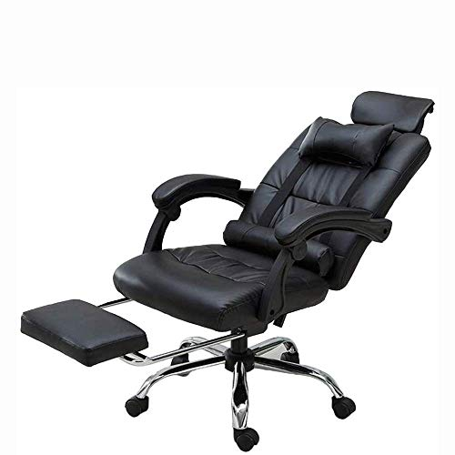 N/Z Home Equipment Massage Gaming Chair High Back Racing PC Computer Desk Office Chair Swivel Ergonomic Executive Leather Chair with Footrest and Adjustable Armrests (Color : White)