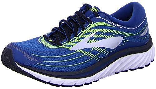 Brooks Mens Glycerin 15 Running Shoe (Blue/Lime/Silver