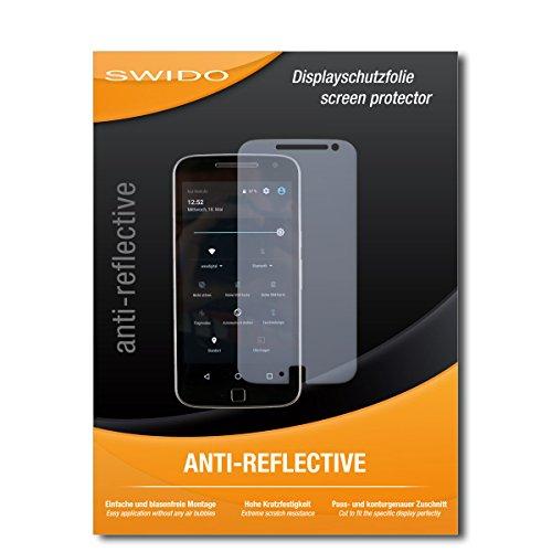 SWIDO Bildschirmschutz für Lenovo Moto G (4. Gen.) Plus [4 Stück] Anti-Reflex MATT Entspiegelnd, Hoher Festigkeitgrad, Schutz vor Kratzer/Glasfolie, Schutzfolie, Bildschirmschutzfolie, Panzerglas Folie