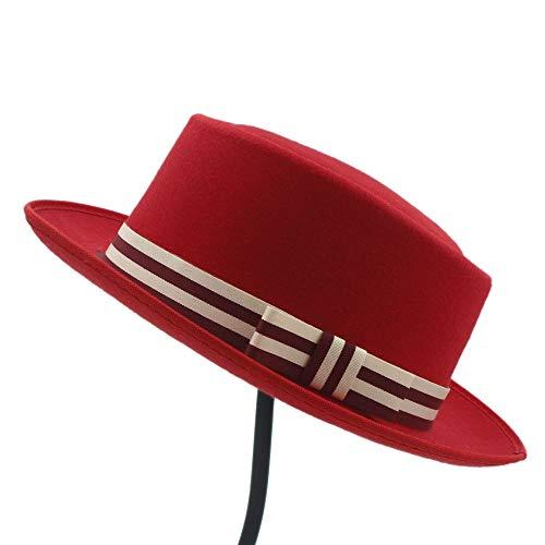 Sombrero de Homburg Fedpra con cinturón, for hombre, de invierno, for mujer,...