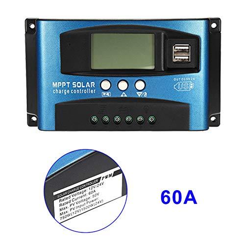 Guajave 40A-100A MPPT Solarpanel Regler Laderegler 12 V/24 V Auto Focus Tracking-Gerät, 60A