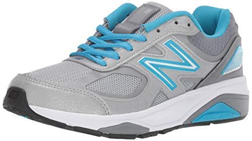 New Balance Women's Made 1540 V3 Running Shoe, Silver/Polaris, 7.5 XXW US