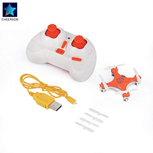 BIYI RC Quadrocopter 4CH 2,4 GHz Headless-Modus Drohne Orange für Cheerson CX-10 Exquisit entworfen Langlebig (orange)