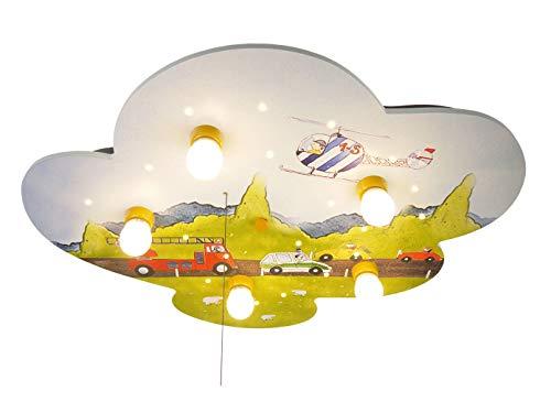LED infantil plafón coches, Amazon Echo compatible, con interruptor de cordón para...