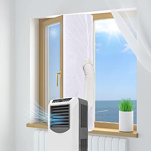 ASANMU Guarnizione Universale per Finestre per Condizionatore Portatile, 400CM Guarnizione Climatizzatore per Tutti i Tipi di Condizionatori Portatili Finestre Tutti Mobili Soft Cloth Asciugatrice