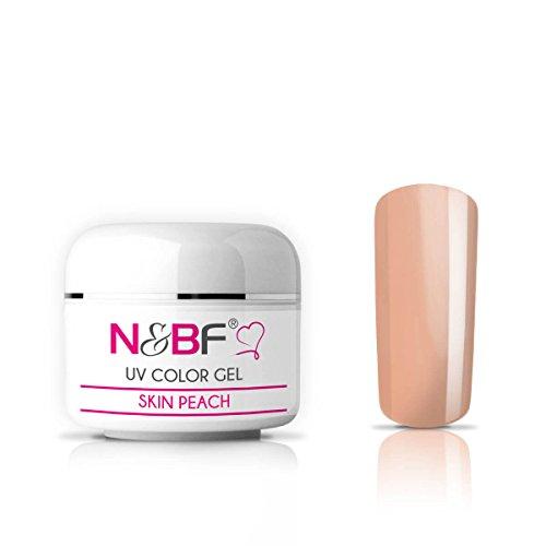 N&BF UV Farbgel 5 ml   Skin Peach   Colourgel deckend mittelviskos   Color Gel für Gelnägel   Made in EU   Farbgele für Nageldesign und Nailart   selbstglättend + ohne Säure