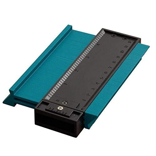 Plantilla de contorno de calibre Contorno de plástico Copia de copia Duplicador Herramienta de medición Forma de forma Duplicador Duplicación de perfil Herramienta de medición (Color : Green)