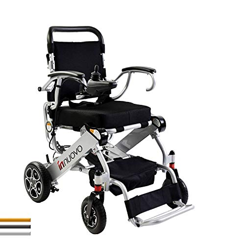 Innuovo Lightweight Foldable Electric Wheelchair for Adults, Compact (Net Weight 50 lbs) Power Wheelchair, Portable Folding Carry Motorized Wheelchairs, Durable Wheelchair