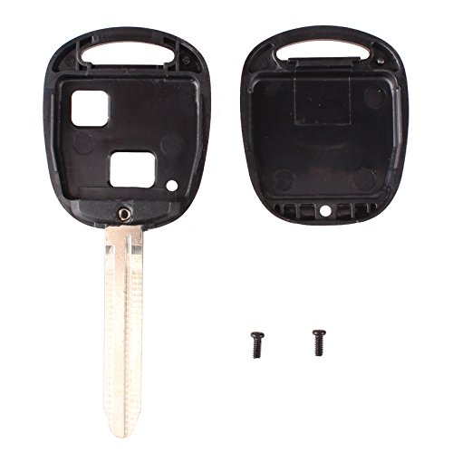 Keyfobworld 2 pcs 2 boutons Coque pour clé Toyota Prado RAV4 Avalon Camry Corolla Echo