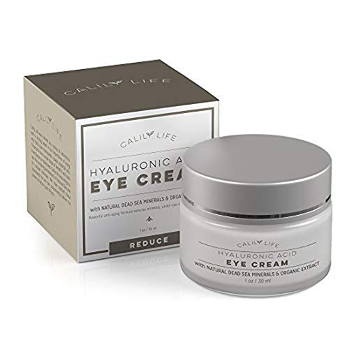 Hyaluronic Acid Eye Cream with Dead Sea Minerals, 1 Oz.–Deeply Hydrates, Nourishes Skin & Fights Wrinkles