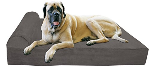Big Barker 7' Orthopedic Dog Bed with Pillow-Top (Headrest Edition) | Dog Beds...