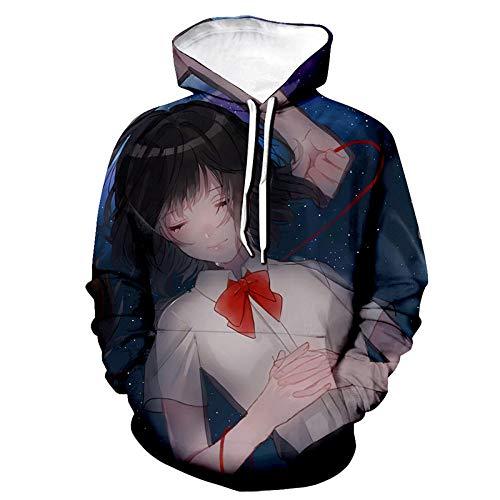 Sudadera con Capucha para Hombre con tu Nombre Anime Print 3D Diseño Suelto Ropa de Calle Masculina-Segundo_Metro