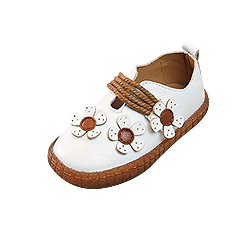 Chaussures de Princesse Enfants bébé Fille à la Mode Décoration Florale Semelles Souples, Chaussures Plates, Sandales echo4745