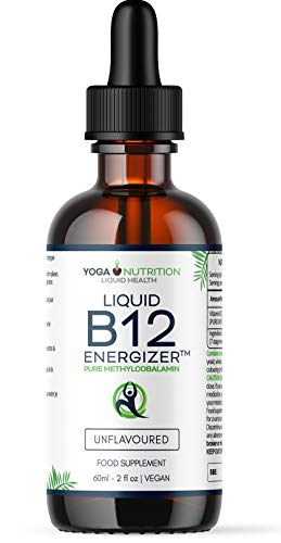 Liquid Vitamin B12 ENERGIZER Methylcobalamin Sublingual Drops - NO Artificial Preservatives - Flavourless (in pure water) - 60ml | by Yoga Nutrition (1)