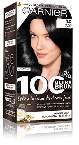 Garnier - 100% Ultra Brun - Coloration Permanente Noir - Le Noir Intense 1.0
