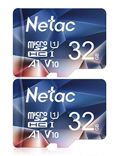 Netac microSDカード 32GB 2枚セット microSDHC UHS-I 最大90MB/s V10 A1 600X U1 C10 Full HD メーカー正規品認証 - P50032X2