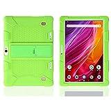 Housse en Silicone pour Dragon Touch 10 Pouces K10 Tablet Kid Friendly Housse en Silicone Souple pour Support réglable pour Yuntab 10.1 (K107 / K17)-Vert